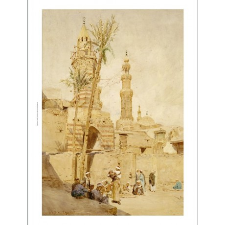 "WALTER TYNDALE ""Street Scene Cairo"" CANVAS PRINT ! choose SIZE, from 55cm up"