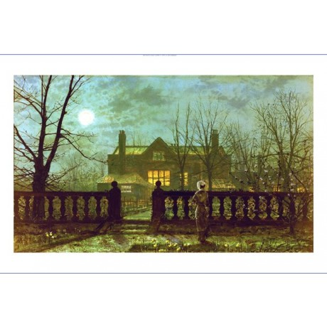 "JOHN ATKINSON GRIMSHAW ""Lady In A Garden"" PRINT choose SIZE, from 55cm up, NEW"