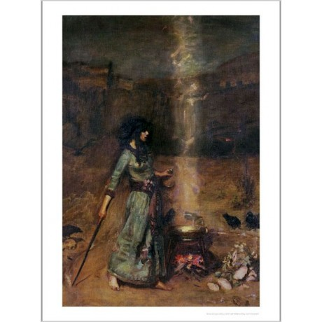 "JOHN WILLIAM WATERHOUSE ""Magic Circle"" Art Print NEW various SIZES available"