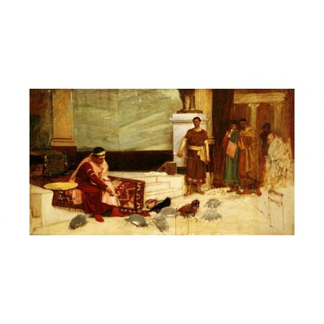 JOHN WILLIAM WATERHOUSE Roman PRINT GICLEE canvas choose SIZE, from 55cm up, NEW