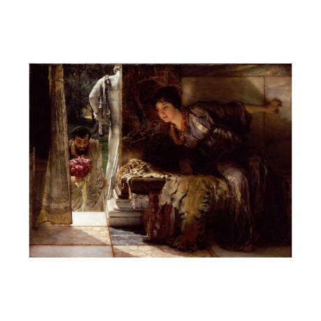 "SIR LAWRENCE ALMA-TADEMA ""Welcome Footsteps"" ON CANVAS various SIZES, BRAND NEW"