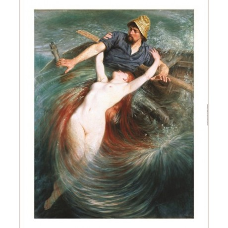 "KNUT EKWALL ""Fisherman Engulfed By A Siren"" new CANVAS various SIZES available"