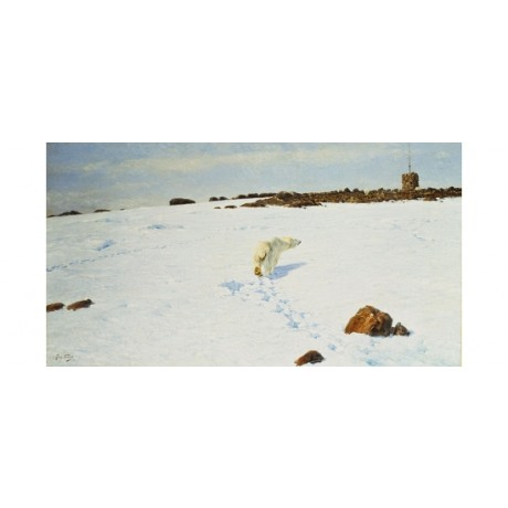 RICHARD LOUIS FRIESE Polar Bear Arctic Landscape CANVAS various SIZES, BRAND NEW
