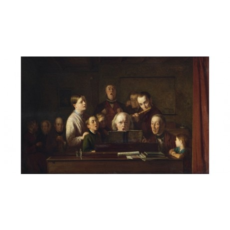 THOMAS WEBSTER Practising For Village Concert ON CANVAS various SIZES, BRAND NEW