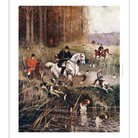 RENE CHARLES PRINCETEAU Scene De Chasse A Cour CANVAS! various SIZES, BRAND NEW