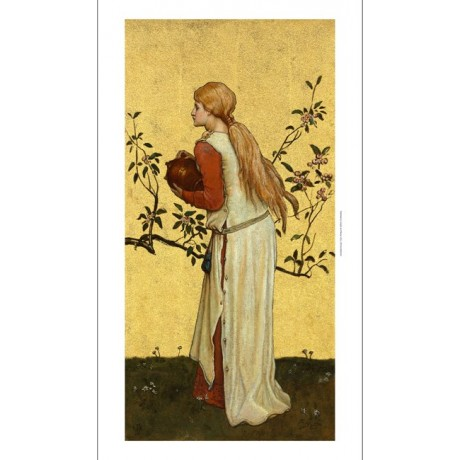 FREDERICK WEEKES The Water Carriers II GOLD tree women zodiac NEW CANVAS giclee