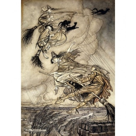 ENCHANTING NEW CANVAS The Ingoldsby Legends: Frontispiece witch ARTHUR RACKHAM