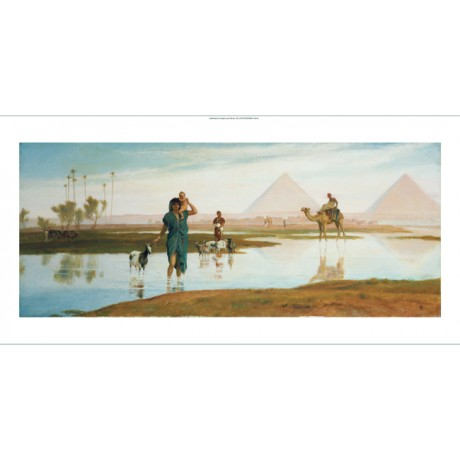 "FREDERICK GOODALL ""Overflow Of Nile"" Egypt ON CANVAS various SIZES available"