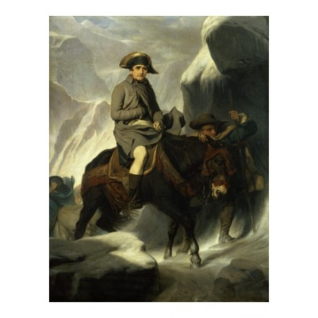"PAUL DELAROCHE ""Napoleon Crossing Alps"" Military ART various SIZES available"