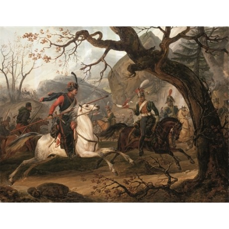 "VERNET ""Skirmish with Cossacks during Napoleon's Russian Campaign 1812"" PRINT"