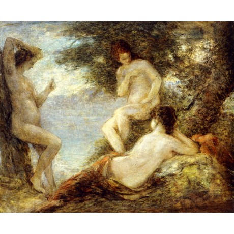 HENRI FANTIN-LATOUR Sirens DANGEROUS beautiful naked WOMEN mythology ON CANVAS