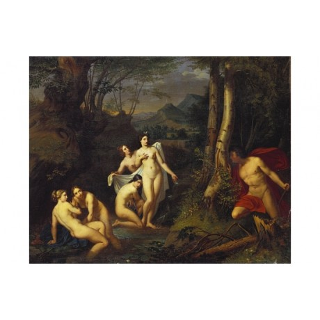 "EMIL JACOBS ""Diana And Actaeon"" nude new canvas PRINT! various SIZES available"