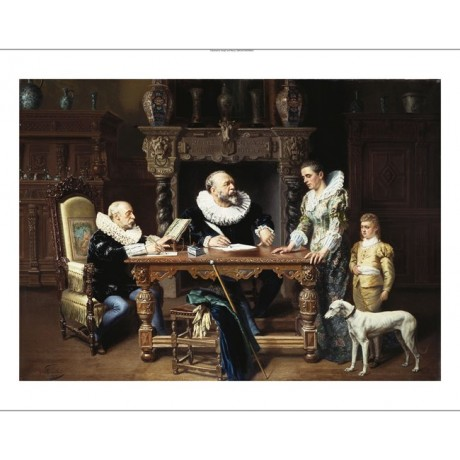 "GUSTAVE MATTELE ""At The Solicitor's"" new CANVAS print! various SIZES, BRAND NEW"