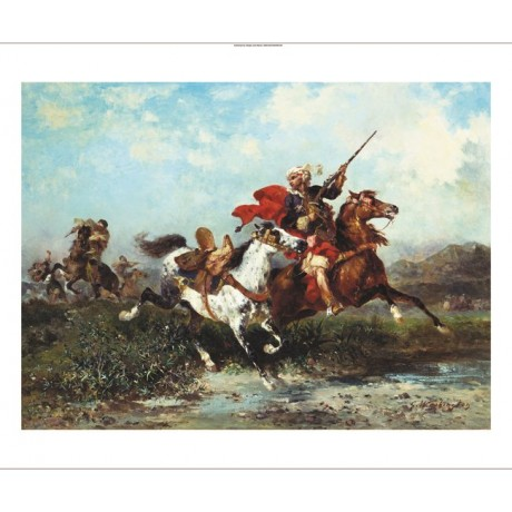 GEORGES WASHINGTON !Warring Arab Horsemen! new CANVAS! various SIZES, BRAND NEW