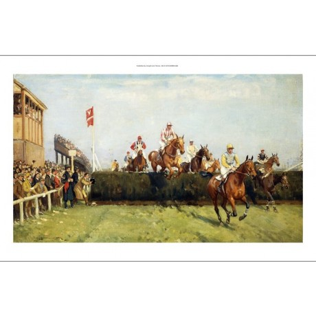 JOHN SANDERSON WELLS The Grand National Steeplechase: Valentine's Jump CANVAS!