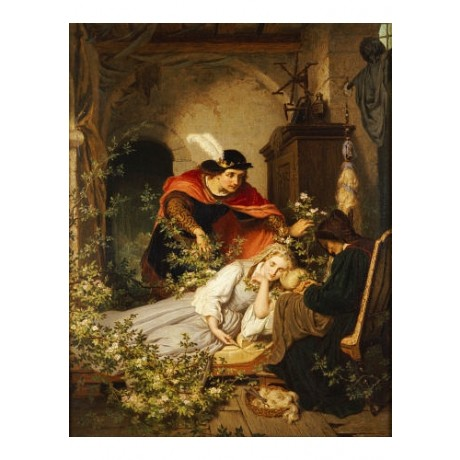 "ROLAND RISSE ""Sleeping Beauty"" print ON CANVAS choose SIZE, from 55cm up, NEW"