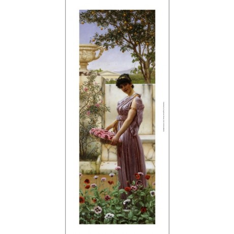 John William Godward The Flowers of Venus greece classical flower venus CANVAS