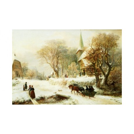 "HERMANN KAUFFMANN ""Going To Church"" CANVAS ART choose SIZE, from 55cm up, NEW"