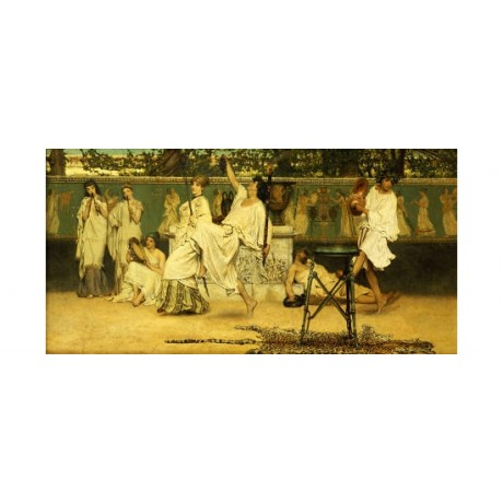 "SIR LAWRENCE ALMA-TADEMA ""Bacchanal"" CANVAS PRINT ! various SIZES available, NEW"