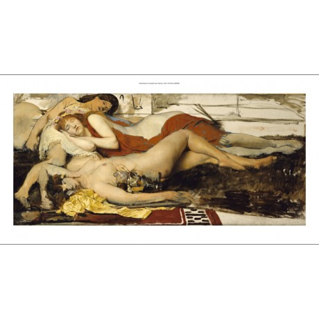 SIR LAWRENCE ALMA TADEMA Maenides Nude ON CANVAS choose SIZE, from 55cm up, NEW