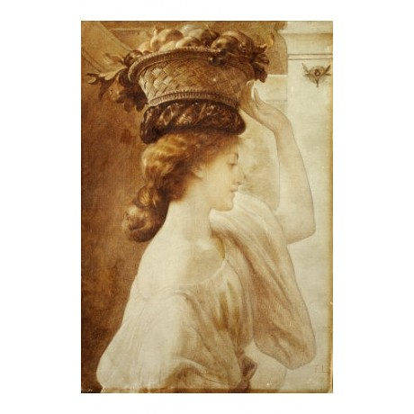 FREDERIC, LORD LEIGHTON Portrait Girl PRINT NEW choose SIZE, from 55cm up, NEW