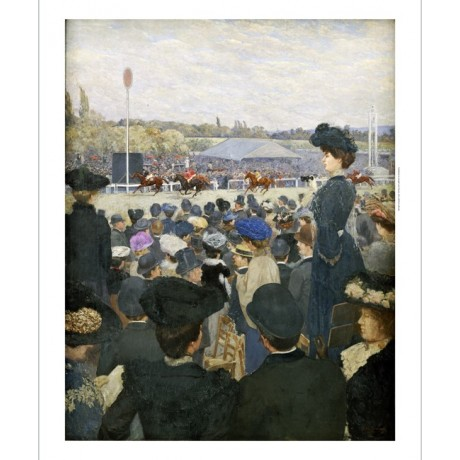 "EDOUARD ZAWISKI ""At Races"" print NEW ON CANVAS choose SIZE, from 55cm up, NEW"