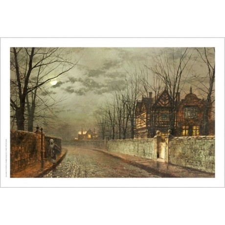 JOHN ATKINSON GRIMSHAW Old English House ON CANVAS choose SIZE, from 55cm up