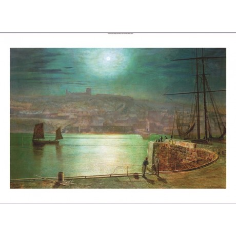 "JOHN ATKINSON GRIMSHAW ""Whitby Harbour"" PRINT choose your SIZE, 55cm to X LARGE"