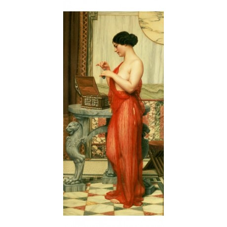 "JOHN WILLIAM GODWARD ""New Perfume"" Nude CANVAS ART ! various SIZES available"