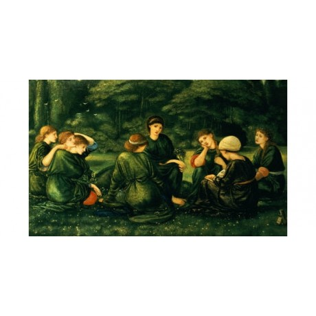 "SIR EDWARD COLEY BURNE-JONES ""Green Summer"" PRINT new various SIZES, BRAND NEW"