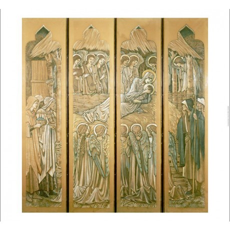 "SIR EDWARD COLEY BURNE-JONES ""Nativity"" print NEW choose SIZE, from 55cm up, NEW"
