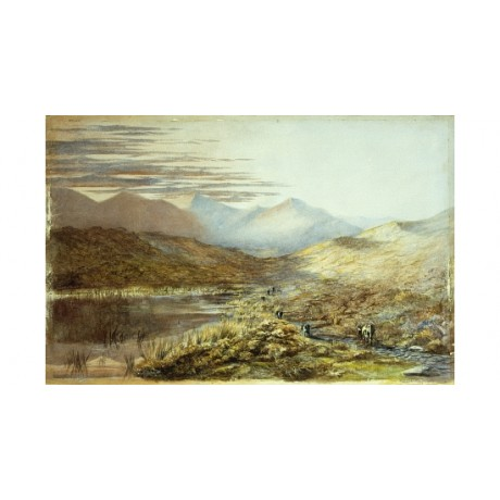 "CHEVALIER ""Lake Puxaki New Zealand"" PEACEFUL mountain mist animals grass CANVAS"