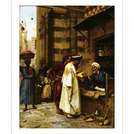 ARTHUR VON FERRARIS Driving a Bargain BARTER jewellery african arab boy CANVAS