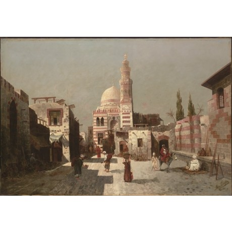 AUGUST VON SIEGEN Complex of Sultan Qaytbay, Cairo RULER traders mosque CANVAS