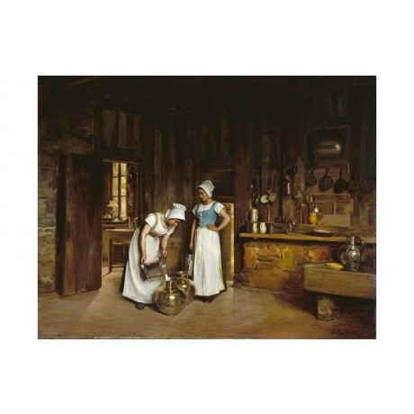 "FRANCK ANTOINE BAIL ""Two Milkmaids"" BROWSE our shop! various SIZES available"