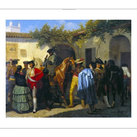 "PEREZ VILLAMIL ""Stables Of The Bull Ring at Seville"" various SIZES available"