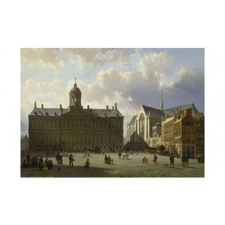 "CORNELIS SPRINGER ""Royal Palace Amsterdam"" CANVAS PRINT various SIZES, BRAND NEW"
