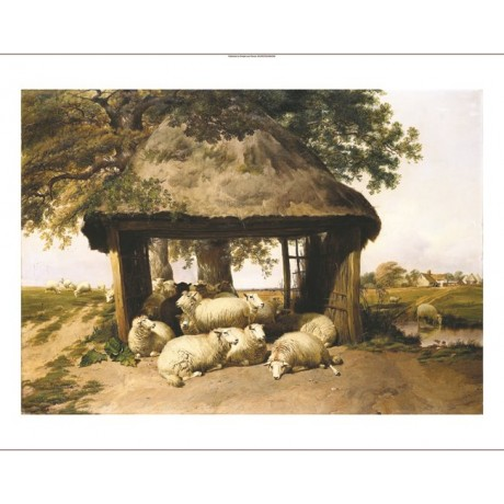 "THOMAS SIDNEY COOPER ""Sheep Resting Under A Shelter"" various SIZES available"