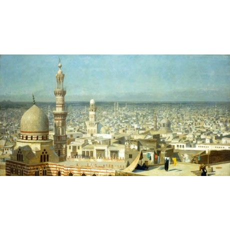 JEAN LEON GEROME View of Cairo MINARET dome capital city rooftop NEW ON CANVAS