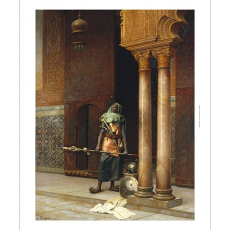 "LUDWIG DEUTSCH ""The Harem Guard"" SPEAR helmet turkish shoe columnS CANVAS PRINT"