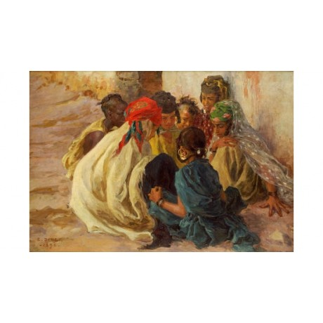"ALPHONSE ETIENNE DINET ""Arab Children Playing"" PRINT various SIZES available"
