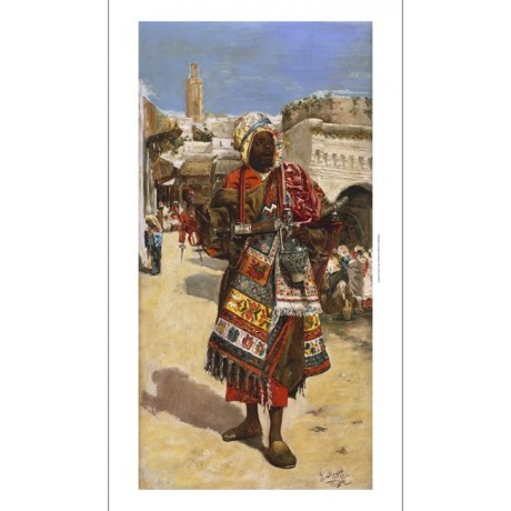 "ARNOSA ""An Arab Street Vendor"" MARKET rug sword lamp jewellery NEW CANVAS PRINT"