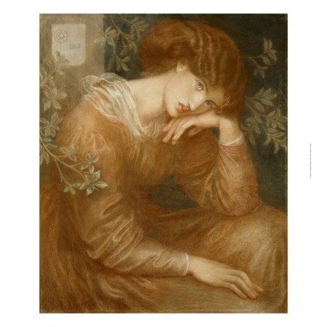 "DANTE GABRIEL ROSSETTI ""Reverie"" portrait ON CANVAS various SIZES available, NEW"
