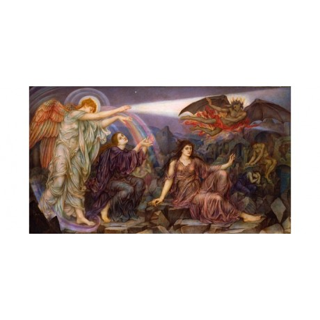 "MORGAN ""The Searchlight"" FANTASY angel rainbow devil fire evil NEW CANVAS PRINT"