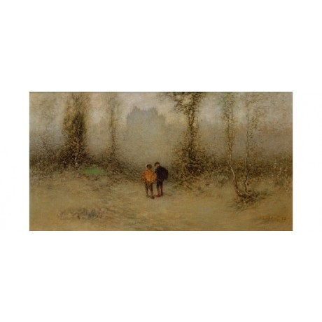 MARIS The Enchanted Castle MYSTERY mist haze fantasy clearing two CANVAS PRINT