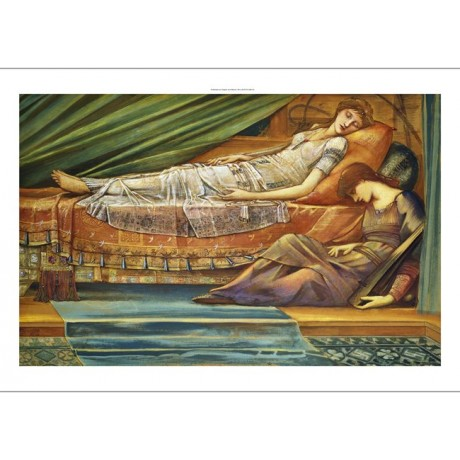 "EDWARD BURNE-JONES ""Sleeping Princess"" new CANVAS print various SIZES, BRAND NEW"