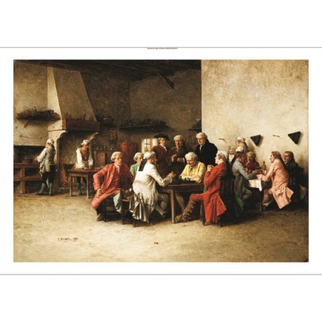 "BENJAMIN EUGENE FICHEL ""A Game Of Chess"" CANVAS PRINT! various SIZES, BRAND NEW"