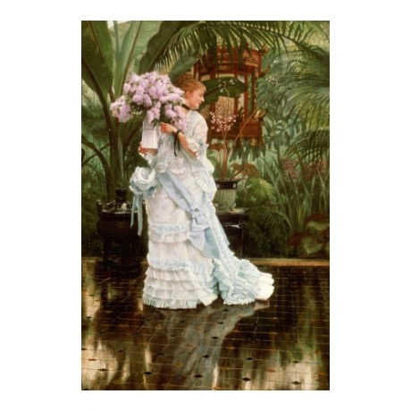 "JAMES JACQUES JOSEPH TISSOT ""Bunch Of Lilacs"" woman various SIZES available, NEW"