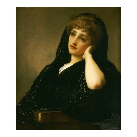 "FREDERIC, LORD LEIGHTON ""Memories"" portrait ON CANVAS various SIZES, BRAND NEW"