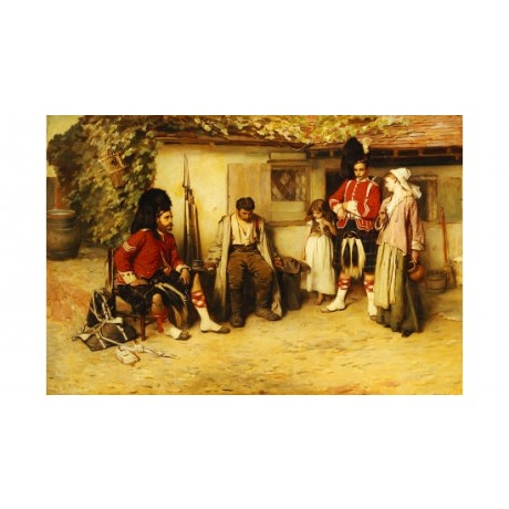 "FRANK HOLL ""Deserted"" military print ON CANVAS choose SIZE, from 55cm up, NEW"